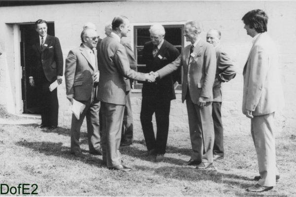 The Duke of Edinburgh meeting the team at Crofton