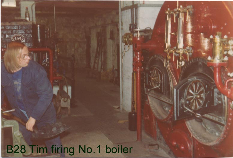 Tim firing the boiler