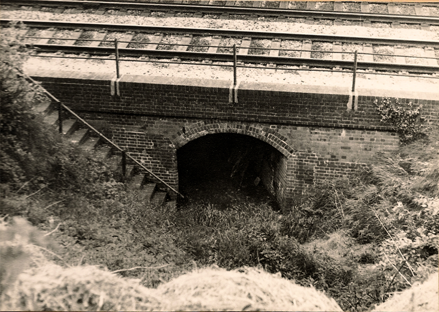 Crofton tunnel under railway line