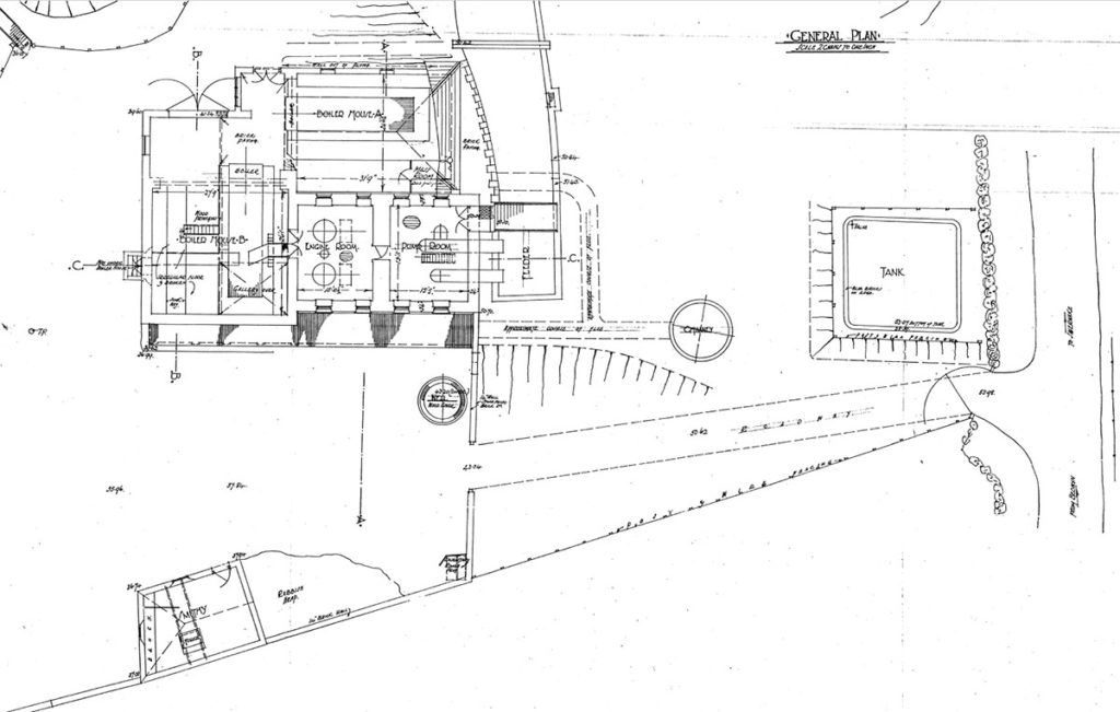General plan drawing of Crofton